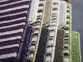Selection of striped carpets