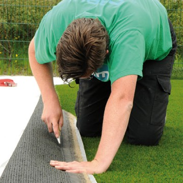 Image showing how to fit artifical grass