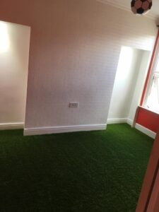 Artificial Grass in a bedroom